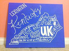 University of Kentucky Team Spirit Canvas by AllThingsSrat on Etsy