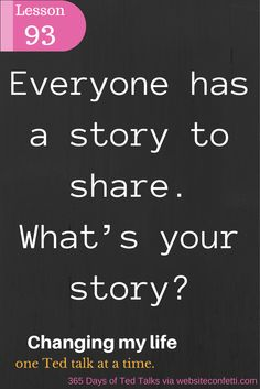 Day 93: The clues to a great story?