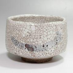 Shino Chawan, Japanese Crackle glaze pottery Tea Bowl #2034 - ChanoYu online shop
