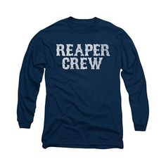 4bd80fe83c5 Sons Of Anarchy Reaper Crew Blue Long Sleeve T-Shirt Tanks