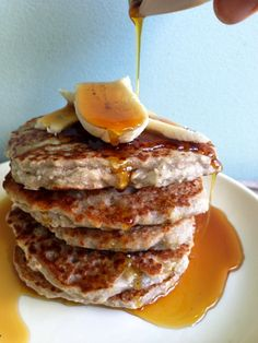 Vegan and GF coconut banana pancakes and Sweet Potato Ricotta GF pancakes Egg Free Pancakes, Coconut Pancakes, Vegan Pancakes, Pancakes And Waffles, Ricotta Pancakes, Banana Pancakes, Coconut Flour, Buckwheat Gluten Free, Vegan Gluten Free