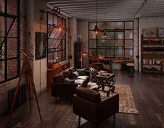 """Check out new work on my @Behance portfolio: """"Industrial loft"""" http://be.net/gallery/40966005/Industrial-loft"""