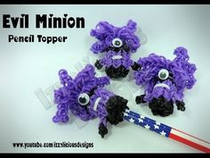 Rainbow Loom Evil Minion Pencil Topper Charm - Gomitas by Kate Schultz