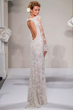 LOVE this back. Perfect winter wedding dress.