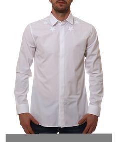 GIVENCHY Givenchy Men'S 17S6061300100 White Cotton Shirt'. #givenchy #cloth #dress shirts