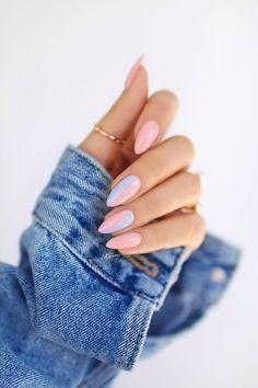Nageldesign - Nail Art - Nagellack - Nail Polish - Nailart - Nails Amanda Wedding Gifts: Unique And Pastel Nails, Cute Acrylic Nails, Pink Nails, Cute Nails, Color Nails, Summer Shellac Nails, Pastel Blue Nails, Acrylic Tips, Acrylic Colors