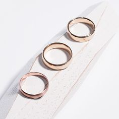 Gold wedding bands. www.bario-neal.com/jewelry/bands
