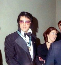 Elvis and Priscilla Presley (Red West beside Priscilla far right) are pictured leaving the Jaycees Awards gala at Municipal Auditorium in Memphis, TN on Saturday, January 16, 1971. More about Elvis and the Jaycees: http://brian56.dk/70s/1971/7101/710116.html