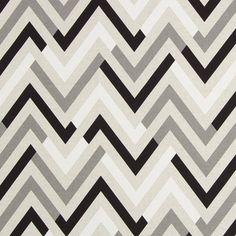 Halbpanama Chevron Black & White - Baumwolle - Polyester - natur