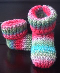 INSTANT DOWNLOAD PDF Crochet Pattern for Knit Look Slipper Boots Toddler Childrens Sizes on Etsy, $5.00