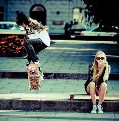 skate with friends