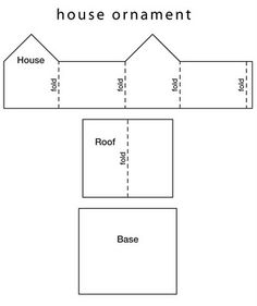 Paper house template via Gudruns papirblog