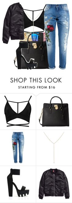 """""""He got diamonds on his crucifix💎✝️"""" by maiyaxbabyyy ❤ liked on Polyvore featuring Boohoo, MICHAEL Michael Kors, Dolce&Gabbana, Loren Stewart and H&M"""