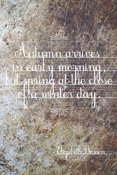 From Elizabeth Bowen Autumn Day, Autumn Leaves, Elizabeth Bowen, Lovely Smile, Falling In Love, Falling Leaves, Deep Dish, Autumn Inspiration, Illustrations