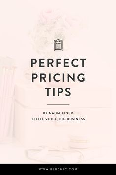 Perfect pricing tips