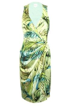 Turquoise and Gold chartreuse foliage print draped dress : Rs. 17,250 http://www.findable.in/turquoise-gold?=12 | Findable.in