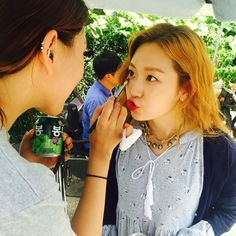 Kim Seulgi puckers up at OMG set ~ kkuljaem 꿀잼 Ode To My Father, Oh My Ghostess, Fabricated City, Queen Of The Ring, Female Character Concept, Dramas, Korean Star, Drama Movies, Celebs