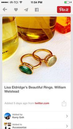 love lisa eldridge rings