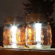 Making stylish solar lights could not be easier. You can simply attach the light and battery from a stake light into a mason jar, or purchase some pre-made screw on lids. Frost the glass for a moon-like glow or fill the jar with glass beads for a little sparkle. Check out the other 9 brilliant mason jar hacks #masonjar #ad by marina