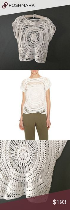 trina turk white natty crochet dolman top Excellent condition  Cotton is soft, breathable, stretchy, insulating, natural, non-allergenic, strong, and versatile. Trina Turk Tops