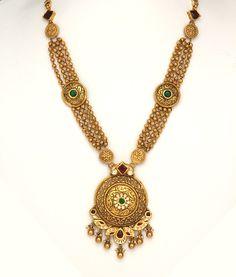 Antique Jewellery Designs, Antique Jewelry, Jewelry Design, Antique Necklace, Gold Necklace, Gold Jewelry Simple, Jafar, Gold Set, Jewelry Patterns