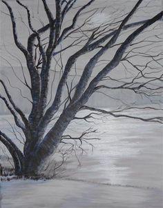 """Winter Morning-Psalm 74:17"" - Original Fine Art for Sale - © Gail Ruth Peterson"