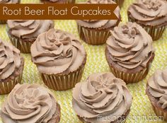 Root Beer Float Cupcakes recipe - delicious - they taste like an actual root beer float!