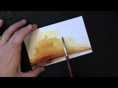 Combining Intricate Creative Dies with Watercolor Backgrounds by Penny Black - YouTube