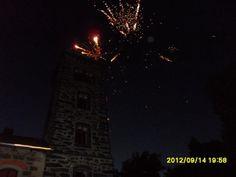 Zum Abschluß gab's noch ein Feuerwerk