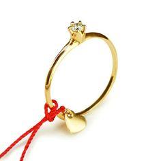 little emblem gold ring diamond with heart missanga LE-AR86yg-a #littleemblem #ring #gold #diamond #ruby #heart #missanga #em #emgrp