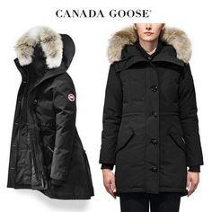 CANADA GOOSE ダウンジャケット・コート CANADA GOOSE Rossclair Parka Fusion Fit 小柄な方に◎ブラック Canada Goose Women, Canada Goose Jackets, Parka, Winter Jackets, Fitness, Fashion, Winter Coats, Moda, Winter Vest Outfits