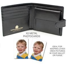 Wallet Purse Metal Photo card x2 - Printingmad Store
