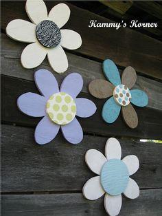 Kammy's Korner: DIY Plywood Wall Flowers