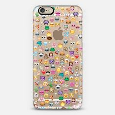 #emoji #emoticons #CustomCase Custom Phone Case | iPhone 6 | Casetify | Graphics | Instagram | Transparent | Marta Olga Klara