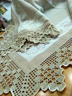 Crochet Edging Patterns, Crochet Lace Edging, Crochet Borders, Lace Patterns, Crochet Designs, Crochet Doilies, Hand Crochet, Free Crochet, Diy Crafts Crochet
