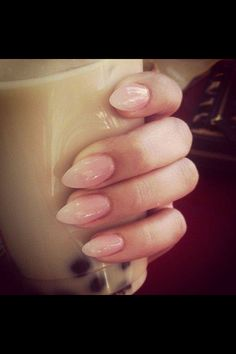 Pinky nude nails
