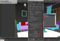 "3ds Max Tutorial : Rendering "" Morning at Living Room"" 