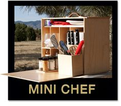 Colorado's My Camp Kitchen craftsmen designed the economical Mini Chef camping kit to give RVers a quick, easy way to make a delicious meal on the road.