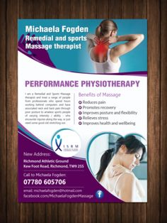Flyer Design (Design #9461150) submitted to Leaflet to promote a new sports massage business (Closed)