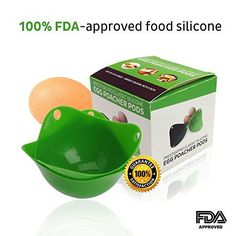 Egg Poacher - Green (Set of 3) - Classic Poacher Cups - Silicone Food Safe - FDA-Approved. Dishwasher, Microwave and Oven Safe - Kitchen Utensils - Egg Cooker. 100 % guarantee - Access to FREE eBook 'How to Prepare A Mediterranean Salads' - http://sleepychef.com/egg-poacher-green-set-of-3-classic-poacher-cups-silicone-food-safe-fda-approved-dishwasher-microwave-and-oven-safe-kitchen-utensils-egg-cooker-100-guarantee-access-to-free-ebook/