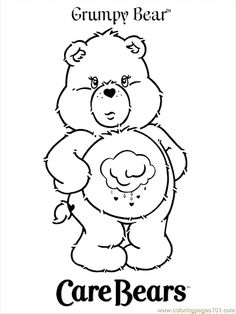 Grumpy Bear Coloring Pages - Free Printable Coloring Pages | Free