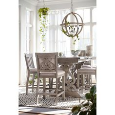 Charthouse Counter-Height Dining Table and 4 Upholstered Stools Dining Furniture Sets, Value City Furniture, Dining Room Sets, Dining Room Table, Upholstered Stool, Chicago Furniture, Kids Bedroom Sets, Counter Height Dining Table, Living Room Seating