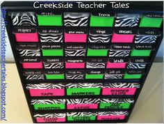 Creekside Teacher Tales: Love this..  Tool box from Lowes turned into supply keeper!!!