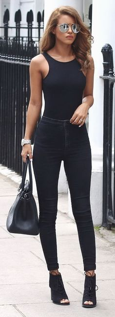 ~ All Black Outfit - something I wish to pull off!