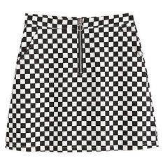 Daphne Checkerboard Mini Skirt (74 BRL) ❤ liked on Polyvore featuring skirts, mini skirts, bottoms, print mini skirt, mini skirt, plaid skirt, checkered mini skirt and stripe skirt