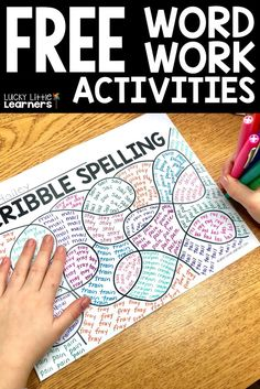 Tired of the same boring ways to practice spelling words? Scribble spelling is a fun way for students to practice their weekly phonics patterns. They don't get sick of practicing them either! Download this free word work sheet today! #teacher #secondgrade #firstgrade #thirdgrade #wordwork #spelling