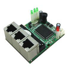 Realtek RTL8306E chipset high performance stock 8pcs/lot 3 port ethernet switch module pcb board