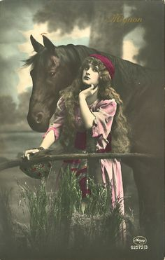 Gypsy woman with horse