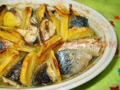 FIRINDA KOLAY PATATESLİ USKUMRU (KOLYOZ) Turkish Recipes, Ethnic Recipes, Homemade Beauty Products, Fish Dishes, Food Blogs, Spanakopita, Japchae, Fish Recipes, Seafood