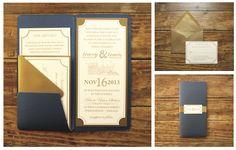 peace.love.design. train ticket wedding invitation suite